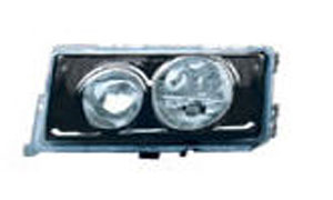 MERCEDES-BENZ 190 HEAD LAMP(CRYSTL,BLACK,2 ROUND)