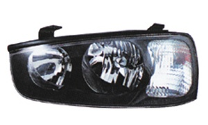 ELANTRA'02 HEAD LAMP(BLACK)
