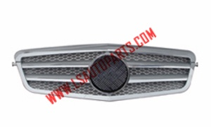 W212'09 FRONT BUMPER GRILLE SILVER