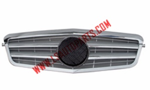 W212'09 FRONT GRILLE SILVER CROMO