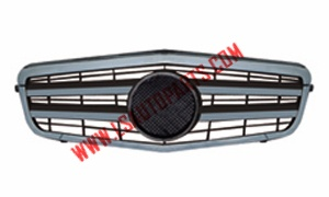 W212'09 FRONT GRILLE BLACK CHROME