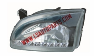 STARLET EP90'96  HEAD LAMP CRYSTAL(BLACK LED)