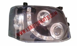 HIACE'11 HEAD LAMP LED BLACK NEW MODEL 1