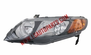 CIVIC'06-'11 4D USA HEAD LAMP BLACK(HB4/HB3/3457A)