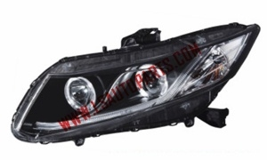 CIVIC'12- 4D USA PROJECTOR HEAD LAMP LED(H1/H1/3457A/LED)