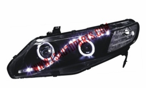 CIVIC'06-'11 4D USA PROJECTOR HEAD LAMP LED(H3/H1/3457A/LED)