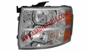 SILVERADO'07-'14 Headlamp chromed/amber reflector H11/Hb3/3157A*2