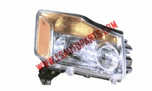 TITAN'04-'12 Headlamp chrome,amber reflector H7/H1/P21/5W