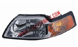MUSTANG'99-'04 Headlamp chromed/Amber reflecto HB5/3157A