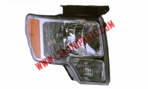 PICK UP'09-'14 Headlamp  chromed/Amber reflector/H13/3157A/W5W