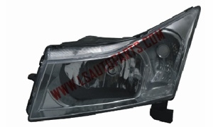 CRUZE'11- Headlamp Black/clear reflector H13/7444A