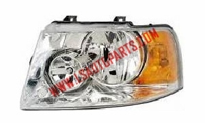 EXPEDITION'03-'06 Headlamp chromed/Amber reflector HB4/HB3/3157A