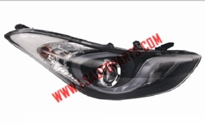 ELANTRA '11 HEAD LAMP BLACK LED