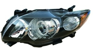 COROLLA'09 USA HEAD LAMP BLACK LED