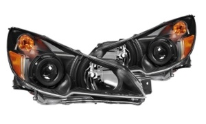OUTBACK'10 HEAD LAMP(USA TYPE)(Clear Lens/Jdm Black  / Manual)